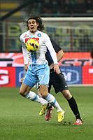 """Edinson Cavani Napoli.Milano 09/12/2012 Stadio """"San Siro"""".Football Calcio Serie A 2012/13.Inter v Napoli.Foto Insidefoto Paolo Nucci."""