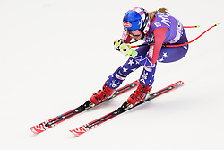 January 19, 2018 - Cortina D'Ampezzo, Dolimites, Italy - Mikaela Shiffrin of United States of America competes  during the Downhill race at the Cortina d'Ampezzo FIS World Cup in Cortina d'Ampezzo, Italy on January 19, 2018. (Credit Image: © Rok Rakun/Pacific Press via ZUMA Wire)