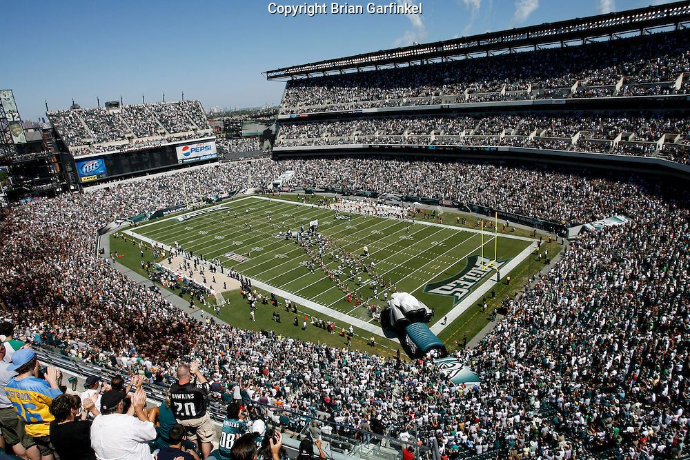 6 Sept 2008: A full stadium awaits the entrance of the Philadelphia Eagles before the game against the St Louis Rams on August 28, 2008. The Eagles beat the Rams 38-3 at Lincoln Financial Field in Phialdelphia, Pennsylvania.