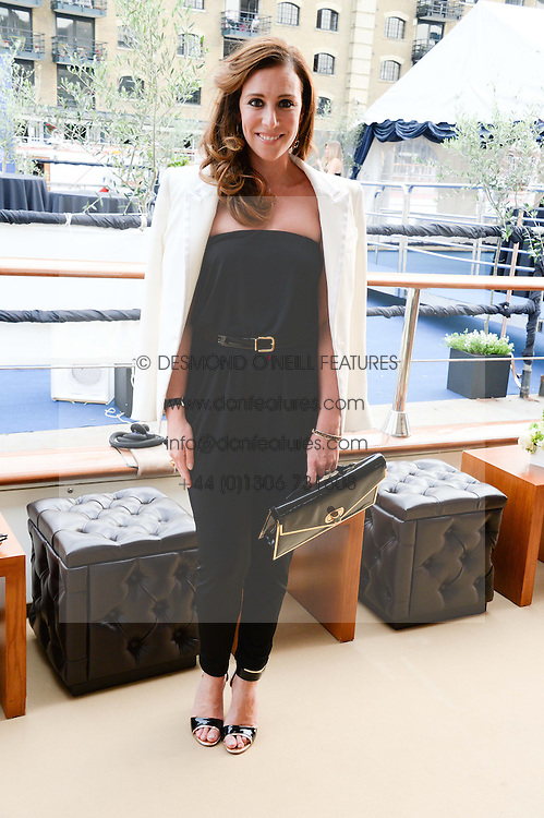 The Johnnie Walker Blue Label and David Gandy Drinks Reception aboard John Walker & Sons Voyager, St.Georges Stairs Tier, Butler's Wharf Pier, London, UK on 16th July 2013.<br /> Picture Shows:-Dee O'Leary.