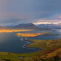 Double Rainbow  - View from Geokaun Mountain overlooking Begenish Island towards Cahersiveen, Co. Kerry, Ireland
