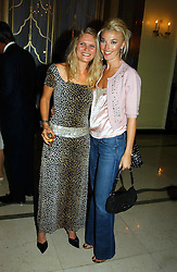 """Left to right, ARABELLA TOBIAS and TAMARA BECKWITH at a party to celebrate the publication of Bruce Oldfield's autobiography """"Rootless"""" held in aid of Crimestoppers at Claridge's, Brook Street, London W1 on 22nd September 2004.<br /><br />NON EXCLUSIVE - WORLD RIGHTS"""