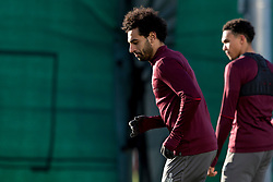 LIVERPOOL, ENGLAND - Monday, February 18, 2019: Liverpool's Mohamed Salah during a training session at Melwood ahead of the UEFA Champions League Round of 16 1st Leg match between Liverpool FC and FC Bayern München. (Pic by Paul Greenwood/Propaganda)