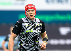 Sam Cross of Ospreys<br /> <br /> Photographer Simon King/Replay Images<br /> <br /> European Rugby Challenge Cup Round 5 - Ospreys v Worcester Warriors - Saturday 12th January 2019 - Liberty Stadium - Swansea<br /> <br /> World Copyright © Replay Images . All rights reserved. info@replayimages.co.uk - http://replayimages.co.uk