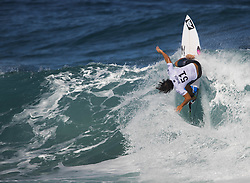 December 16, 2017 - Banzai Pipeline, HI, USA - BANZAI PIPELINE, HI - DECEMBER 16, 2017 - Ian Gouveia of Brazil competes in Round 1 of the  Billabong Pipe Masters. (Credit Image: © Erich Schlegel via ZUMA Wire)