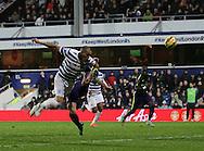 QPR's Bobby Zamora scoring his sides second goal<br /> <br /> - Barclays Premier League - Queens Park Rangers vs Manchester City- Loftus Road - London - England - 8th November 2014  - Picture David Klein/Sportimage