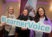Attending The National FET Learner Forum Regional Meeting in the Abbey Hotel, Roscommon on Wednesday Bridget O'Dowd, Theresa Blaides and Deirdre Smyth. Photo:- XPOSURE.IE