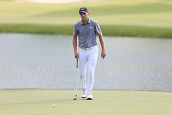 June 21, 2018 - Cromwell, Connecticut, United States - CROMWELL, CT-JUNE 21: Jordan Spieth walks the 17th green during the first round of the Travelers Championship on June 21, 2018 at TPC River Highlands in Cromwell, Connecticut. (Credit Image: © Debby Wong via ZUMA Wire)