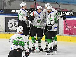 17.09.2021, Tiroler Wasserkraft Arena, Innsbruck, AUT, ICE, HC TWK Innsbruck Die Haie vs HK SZ Olimpija, Grunddurchgang, 1. Runde, im Bild 0:1 für Ljubjana // during the bet-at-home ICE Hockey League Basic round 1th round match between HC TWK Innsbruck Die Haie and HK SZ Olimpija at the Tiroler Wasserkraft Arena in Innsbruck, Austria on 2021/09/17. EXPA Pictures © 2021, PhotoCredit: EXPA/ Erich Spiess