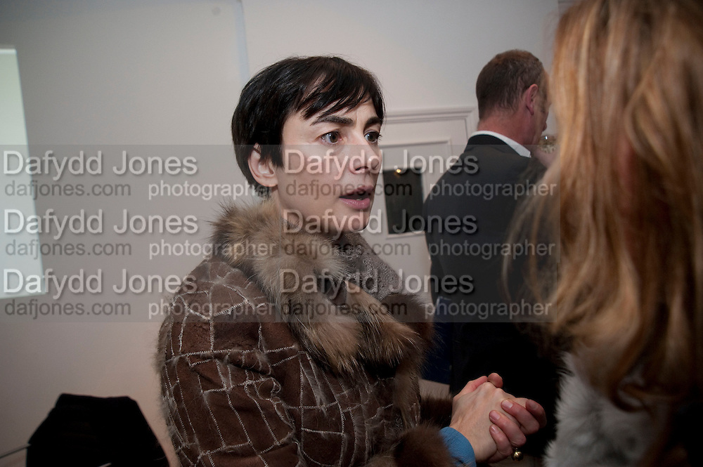 FRANCESCA AMFITEROF, The  launch of Johnnie Shand Kydd's book Siren City. ( Photographs of Naples) Claire<br /> de Rouen books published  by Other Criteria. Charing Cross Rd. London. 30 November 2009