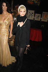 Right PIXIE GELDOF at Andy & Patti Wong's Chinese new Year party held at County Hall and Dali Universe, London on 26th January 2008.<br /><br />NON EXCLUSIVE - WORLD RIGHTS (EMBARGOED FOR PUBLICATION IN UK MAGAZINES UNTIL 1 MONTH AFTER CREATE DATE AND TIME) www.donfeatures.com  +44 (0) 7092 235465