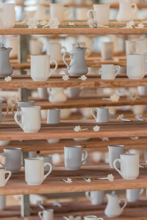 FACTORY: the seen and the unseen - an installation, in the form of a ceramics factory, by artist Clare Twomey. It is set up in the Blavatnik Building of the Tate Modern and launches the second year of Tate Exchange which, over 2017 and 2018, will focus on the theme of production.