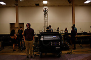 Shadow Indoor Percussion practices at the Montgomery County Fairgrounds in Dayton, Ohio on April 20, 2017.<br /> <br /> Beth Skogen Photography - www.bethskogen.com