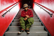 Thundercat poses for a portrait at Le Poisson Rouge as part of the Red Bull Sound Select Series in New York, NY on February 19, 2014.