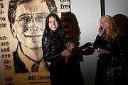 ANDREA AMARAL; DELIA ANTAL; BILL GATES ( BEHIND) The Wall St. 100. Jose-Maria Cano. RIFLEMAKER DAIRY. Wakefield St. London. WC!. 9 November 2009