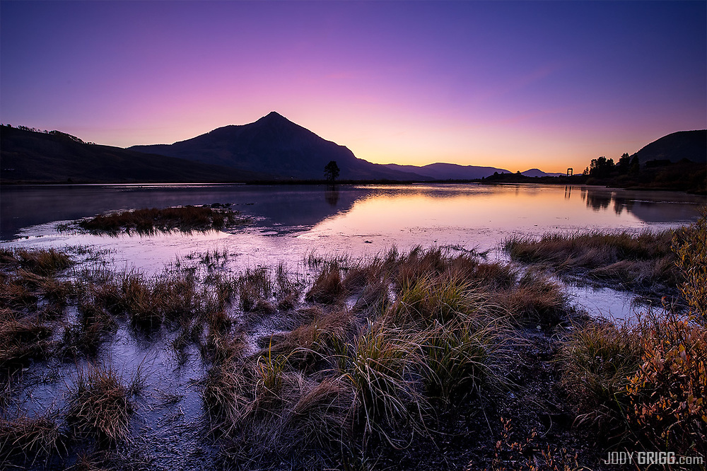 Dawn of a new day at Peanut Lake near Crested Butte, Colorado.