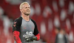 Kasper Schmeichel  (Danmark) under opvarmning til UEFA Nations League kampen mellem Danmark og Belgien den 5. september 2020 i Parken, København (Foto: Claus Birch).