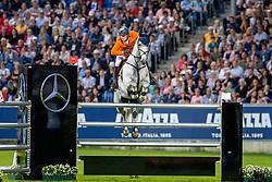 KUIPERS Doron (NED), Charley  <br /> Aachen - CHIO 2019<br /> Mercedes-Benz Nationenpreis<br /> Mannschaftsspringprüfung mit zwei Umläufen<br /> 2. Runde/Second Round<br /> 18. Juli 2019<br /> © www.sportfotos-lafrentz.de/Stefan Lafrentz