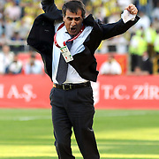 Trabzonspor's coach Senol GUNES celebrate victory during their Turkey Cup final match Trabzonspor between Fenerbahce at the GAP Arena Stadium at Urfa Turkey on wednesday, 05 May 2010. Photo by TURKPIX