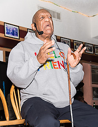 Bill Cosby returns to the stage for a special comedy and jazz performance, honoring Jazz Great Tony WIlliams at LaRosa Jazz Club in Philadelphia, PA. Bill Cosby performed comedy jokes about blind and old people, his friends, his family and uncle and growing up while his mother was pregnant with his brother, and also performed a drum set with the jazz band. 22 Jan 2018 Pictured: Bill Cosby. Photo credit: MEGA TheMegaAgency.com +1 888 505 6342