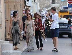 Caroline de Monaco and her daughter Alexandra de Hanovre with boyfriend Ben-Sylvester Strautmann stolling in St tropez France on july 18 , 2018