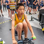 10:12 AM- Concept2 #9 Heat 1- Men?s 2000m U15<br /> <br /> NZ Indoor Champs, raced at Avanti Drome, Cambridge, New Zealand, Saturday 23rd November 2019 © Copyright Steve McArthur / @rowingcelebration www.rowingcelebration.com