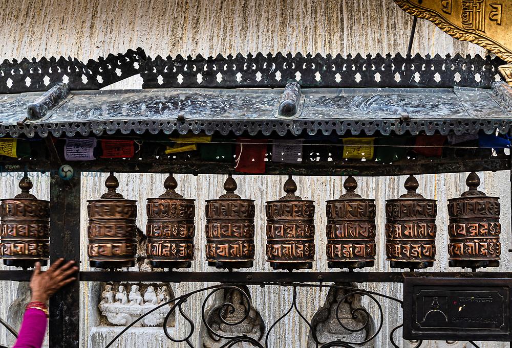 Prayer Wheels in the ancient city of Bhaktapur, Nepal