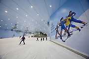 """Mall of the Emirates. Ski Dubai, an artificial ski slope complete with lifts and ski schools in a """"giant fridge"""" in the middle of the desert, open since 2005."""