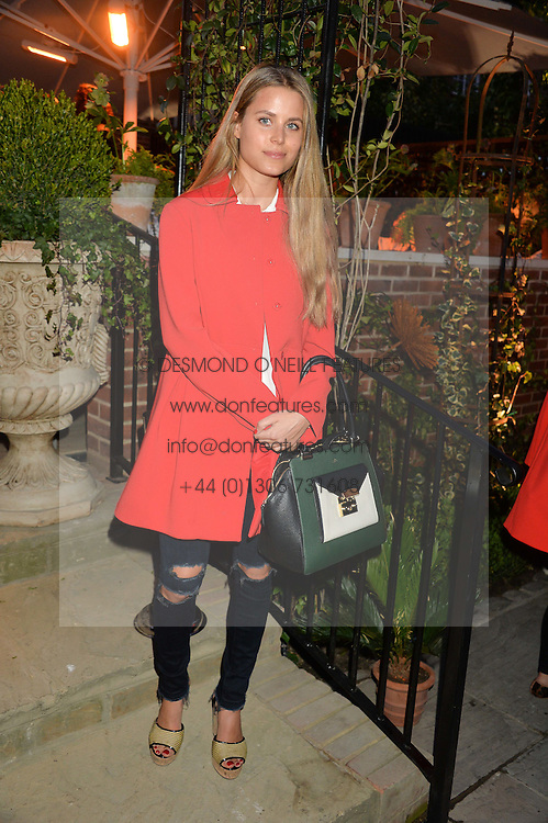 PICTURE SHOWS:-IRENE FORTE.<br /> Tuesday 14th April 2015 saw a host of London influencers and VIP faces gather together to celebrate the launch of The Ivy Chelsea Garden. Live entertainment was provided by jazz-trio The Blind Tigers, whilst guests enjoyed Moët & Chandon Champagne, alongside a series of delicious canapés created by the restaurant's Executive Chef, Sean Burbidge.<br /> The evening showcased The Ivy Chelsea Garden to two hundred VIPs and Chelsea<br /> residents, inviting guests to preview the restaurant and gardens which marry<br /> approachable sophistication and familiar luxury with an underlying feeling of glamour and theatre. The Ivy Chelsea Garden's interiors have been designed by Martin Brudnizki Design Studio, and cleverly combine vintage with luxury, resulting in a space that is both alluring and down-to-earth.
