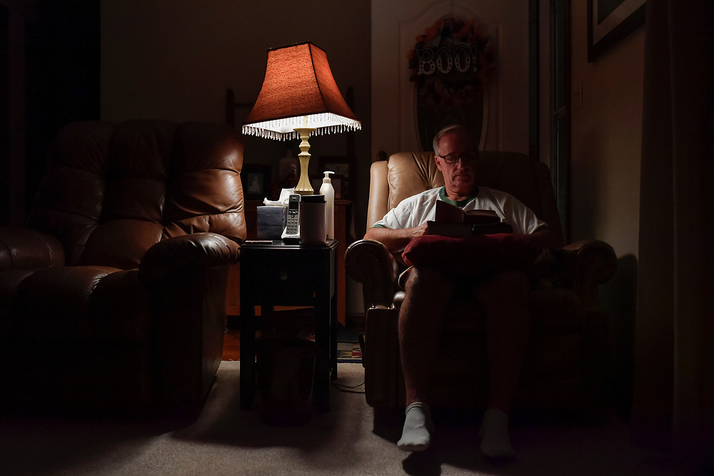 """Through this tough time, Jim has leaned on his wife and his faith, attending church and reading his daily devotions each morning. """"I can't remember the last time I didn't,"""" he says."""