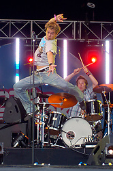 """Freefaller at Party in the Park Temple Newsome Leeds  2005<br /> <br /> Freefaller were a British pop/rock band from Newcastle upon Tyne, England, formed in 2001. Their first song, """"Do This! Do That!"""", was released as a single in January 2005, and reached  8 in the UK Singles Chart.<br /> David """"Ollie"""" Oliver (ex-Point Break) – vocals.<br /> Dean Roberts – guitar.<br /> Gary Mahon – bass.<br /> Rich Joy – drums."""