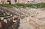 The Theatre of Dionysus at the Acropolis in Athens Greece was an open air theater in ancient Greece.