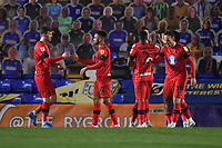 Football - 2020 / 2021 Sky Bet League One - AFC Wimbledon vs Wigan Athletic - Plough Lane<br /> <br /> Wigan Athletic's Jamie Proctor (hidden) celebrates scoring the opening goal.<br /> <br /> COLORSPORT/ASHLEY WESTERN