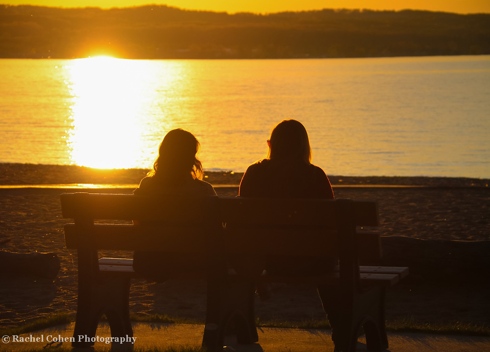 """""""Friends""""<br /> <br /> The beauty of two friends watching the sunset together."""