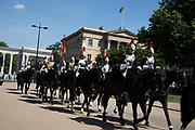 Blues and Royals in London, England, United Kingdom. The Blues and Royals  or Royal Horse Guards and 1st Dragoons, is a cavalry regiment of the British Army, part of the Household Cavalry.