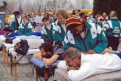 Pre-Race Massage For 1992 Boston Marathon
