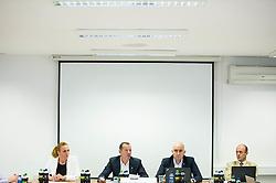 Petra Majdic, Enzo Smrekar, Jozko Krizan and Jurij Zurej during meeting of Executive Committee of Ski Association of Slovenia (SZS) on September 22, 2015 in SZS, Ljubljana, Slovenia. Photo by Vid Ponikvar / Sportida