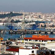 A General Views of the Istanbul. Ataturk bridge, Unkapani in the background. Photo by TURKPIX