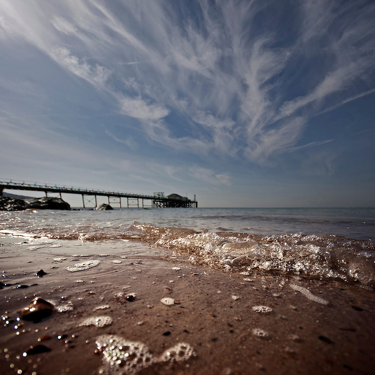 Sunshine & Cirrus Clouds at Totland Bay, Isle of Wight.