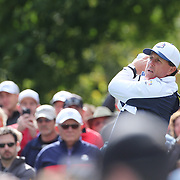 Ryder Cup 2016. Phil Mickelson of the United States during practice day in front of massive crowds at the Hazeltine National Golf Club on September 28, 2016 in Chaska, Minnesota.  (Photo by Tim Clayton/Corbis via Getty Images)