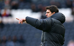 Nottingham Forest Manager Aitor Karanka gestures on the touchline
