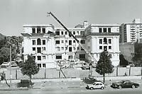 1984 Demolition of  Garden Court Apts on Hollywood Blvd.