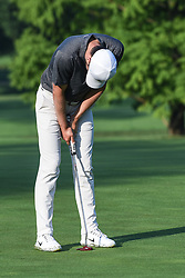 August 10, 2018 - Town And Country, Missouri, U.S - KYLE STANLEY from Gig Harbor Washington, USA drops his head in disgust after missing a putt on the fourth green during round two of the 100th PGA Championship on Friday, August 10, 2018, held at Bellerive Country Club in Town and Country, MO (Photo credit Richard Ulreich / ZUMA Press) (Credit Image: © Richard Ulreich via ZUMA Wire)