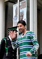 Gianluigi Buffon<br /> Visita dei giocatori della Juventus all Sacra Sindone a Torino<br /> Torino, 27/04/2010<br /> © Giorgio Perottino / Insidefoto