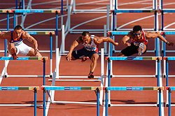 Olympic champion Roman Sebrlein CZE, Bryan Clay USA action during Olympics Games Athletics day 12 on August 24, 2004 in Olympic Stadion Spyridon Louis, Athens.