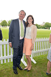 WILLIAM & LADY LAURA CASH at the Flannels for Heroes Cricket tournament in association with Dockers in aid of the charities Walking With The Wounded, On Course Foundation and Combat Stress held at Burton Court, London on 20th June 2014.