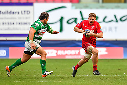 Scarlets' James Davies in action during todays game<br /> <br /> Photographer Simon King/Replay Images<br /> <br /> EPCR Champions Cup Round 3 - Scarlets v Benetton Rugby - Saturday 9th December 2017 - Parc y Scarlets - Llanelli<br /> <br /> World Copyright © 2017 Replay Images. All rights reserved. info@replayimages.co.uk - www.replayimages.co.uk