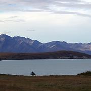 A view of Lake Tekapo and the Mackenzie Country, South Island, New Zealand. 24th February 2011, Photo Tim Clayton