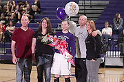 Melina Merritt along with her parents, Leonard and Kathy Casillas; and Rod and Laura Merritt celebrate Senior Night prior to the Westwood game on January 31, 2014.  (LOURDES M SHOAF for Round Rock Leader.)