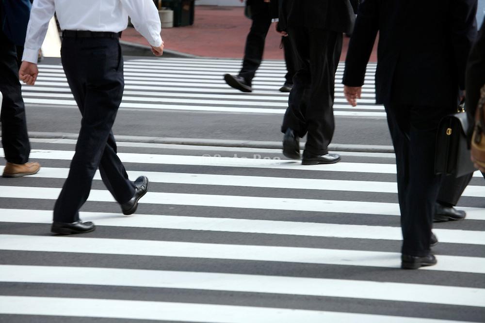 pedestrian crossing Tokyo station Japan